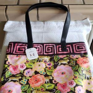 Haute Girls™ Paradise Floral Leopards Tote Bag